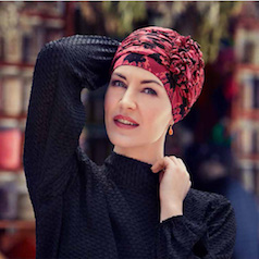 Turbante Oncológico con diseño abstracto 1
